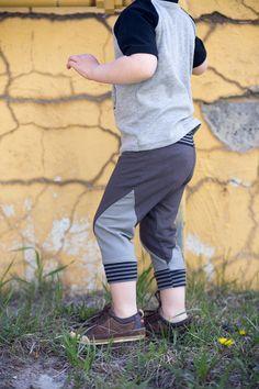 Boys Color Block Capri Sweatpants.Kids Pants.Leggings.Childrens Leggings.Baby jogging pants