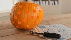Add even more creative pumpkins to your decor with these amazing designs using just an apple corer!/