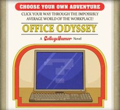The great cartoonist Caldwell Tanner has made a Choose Your Own Adventure Novel for those of you who dream of the excitement of office life. The Boss wants his document yesterday. Why haven't you printed it? There are thirty pages and six possible endings to this story. See if you can survive.