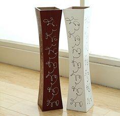 Free shipping Large floor wood vase decoratives artificial flower vase 1 piece