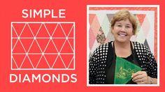 Simple Diamond Quilt | Free Quilting Tutorials