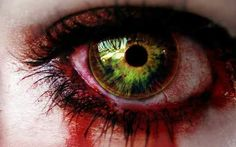 Bloody zombie eye
