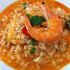 My Favorite Food, Favorite Recipes, Portuguese Recipes, Portuguese Food, Shrimp Dishes, Cooking Recipes, Healthy Recipes, Seafood Dinner, Macaroni And Cheese
