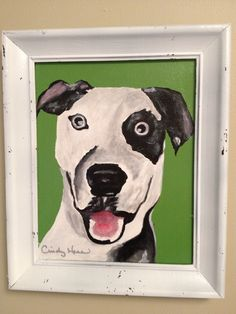 Dog paintings for Talitha's nursery by Cindy Hess. Love these!