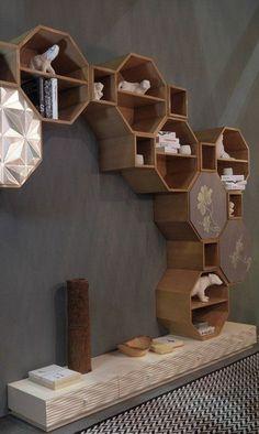 Sectional wooden storage wall PANDORA by. - Sectional wooden storage wall PANDORA by Bizzotto – - Wood Furniture, Furniture Design, Bedroom Furniture, Deco Originale, Wall Decor, Room Decor, Interior Decorating, Interior Design, Shelf Design