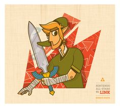 Link   Nintendo All-Stars #1 Art Print