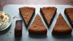 BBC Food - Recipes - Sunken chocolate amaretto cake with crumbled amaretti cream