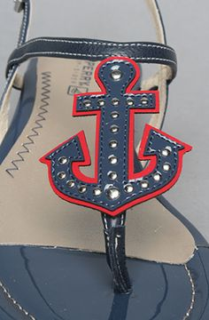 sperry anchor sandals want! Anchor Sandals, Anchor Shoes, My Unique Style, My Style, Nautical Fashion, Nautical Shoes, Cassie Stephens, Beautiful Inside And Out, Casual Boots