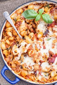 Recipe For Skinny Sausage and Roasted Red Pepper Pasta - My kids have no clue mushrooms are there and LOVE their pasta! Oh, how I love it.
