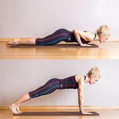 Pilates : Pompe push up - Pilates : 50 postures de base Core Pilates, Pilates Reformer Exercises, Pilates Studio, Pilates Posture, Pilates Challenge, Hiit Abs, Pilates For Beginners, Beginner Pilates, Kickboxing Workout