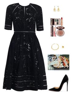 """Sin título #4190"" by mdmsb on Polyvore featuring moda, Zimmermann, Christian Louboutin, Olympia Le-Tan, Orlando Orlandini y Charlotte Tilbury"