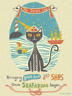 The Ship's Cat by Nicola Colton, via Behance