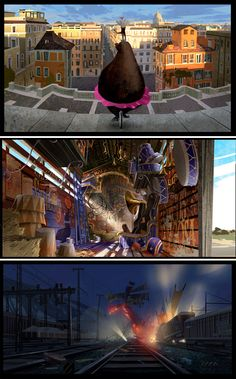 Mais Madagascar por Chin Ko e Alex Puvilland Dreamworks, Madagascar Movie, Art Blog, Kos, Concept Art, Environment, Illustration, Movies, Artists