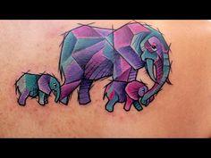 Baby Elephant Drawing, Elephant Family Tattoo, Watercolor Elephant Tattoos, Tiny Elephant Tattoo, Baby Tattoos, Mini Tattoos, Body Art Tattoos, Tattoo Drawings, New Tattoos
