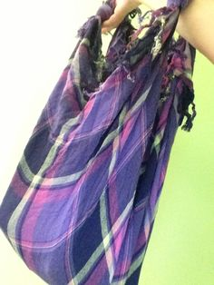 How to Make a Bag Out of a Scarf