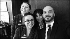 Power turno oggi all'Hotel Milano Scala con Nurye, Riva, Luana e Dimitris!   #dreamteam #justsmile #milano #hotelmilano