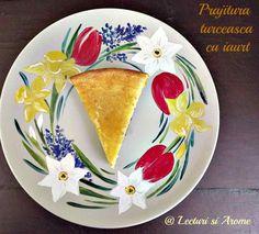 prajitura turceasca cu iaurt Romanian Desserts, Nom Nom, Plates, Breakfast, Cake, Tableware, Ethnic Recipes, Food, Diy