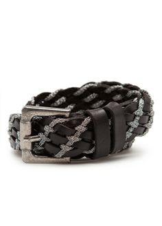 Cinturón piel tranzado metalizado - Mujer 1d55a5127e13
