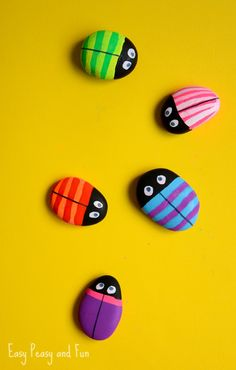 Painted Rocks Bugs