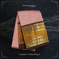 prakash_silks_and_sarees Stay in style in this gava colour gold dots design. The coffee brown border in peacock and coin designs bring a lure of charm. Boost your saree love in this peacock pallu and amazing plain blouse in brown color. Body - gava color, gold dots design, Border - coffee brown, peacock, coins design, Blouse - coffee brown plain blouse Pallu - peacoxk, coins, star design Pure silk and pure zari