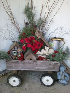 outdoor decor 3 fabulous ideas, christmas decorations, curb appeal, seasonal holiday decor, My husband got the fishing birdhouse as a retirement gift he LOVES to fish He made the other birdhouse for me with some scrap wood from leftover projects he s made several angels are some I ve had