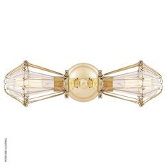 Praia Vintage Double Cage Wall Light Polished Brass @peterreidlighting