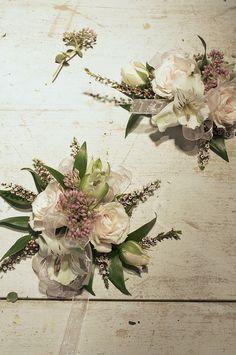 Corsage, designed by Sharilyn Smage, floral designer at Northwind Perennial Farm in Burlington, WI. via Flickr.