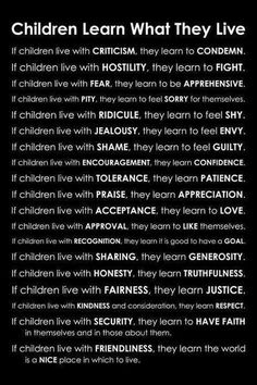 If children live with...