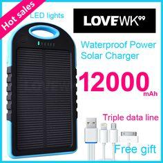 xiomi 12000 mAh Mobile Backup Power Bank Solar Charger Portable bank Universal mobile phone charger powerbank