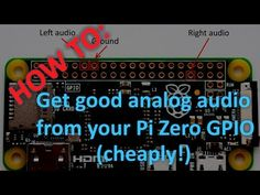 How To: Get decent analog audio from your Raspberry Pi Zero (PWM) - YouTube