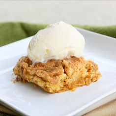 Pumpkin dump cake - super easy and looks delicious.  Using canned pumpkin and a cake mix.