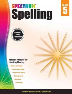 Reinforce your childs fifth-grade skills with Spectrum Spelling. With the…