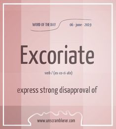Unscrambling excoriate we found 12 valid Scrabble words and scores. 12 words unscrambled with the word unscrambler. Interesting English Words, Unusual Words, Weird Words, Rare Words, New Words, English Idioms, English Phrases, Learn English Words, Book Writing Tips