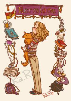 Hermione by (June Harry Potter fan art. Fanart Harry Potter, Harry Potter Hermione, Harry Potter Card, Mundo Harry Potter, Harry Potter Drawings, Harry Potter Universal, Harry Potter Fandom, Ron Weasley, Hermione Granger Drawing