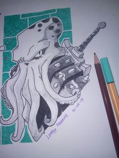 Octopus Warrior #drawing #tattoo