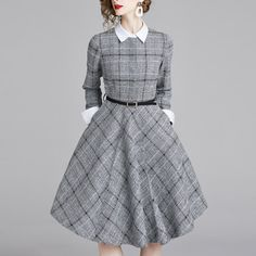 Autumn and winter fashion long-sleeved dress – TWONEX Work Dresses For Women, Simple Dresses, Beautiful Dresses, Casual Dresses, Fashion Dresses, Clothes For Women, Fashion Top, Runway Fashion, Style Fashion