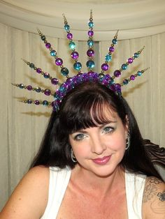MARDI GRAS CROWN  Vivid Crown Style by CoquettishlyAdorned on Etsy