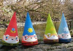 "Cutesypoo's handmade ""Four Seasons of Gnomes."""