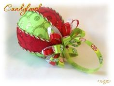 Candyland Kimkomi Christmas Ornament by Miss Joys Ornaments