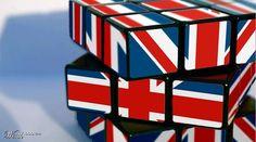"Cubed ""Jack"" by Union Flags, Rule Britannia, Uk Flag, Stuff And Thangs, White Crosses, Union Jack, Colour Schemes, Blue Backgrounds, Britain"