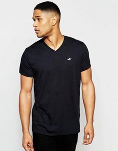 Hollister T-Shirt With V-Neck In Slim Fit £12.00 @ Asos