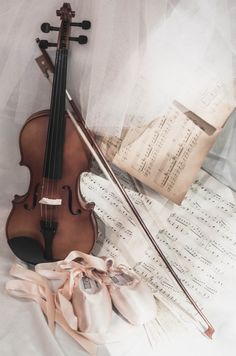 #A Cottage of My Own ... #violin #sheet music #ballet slippers #tutu