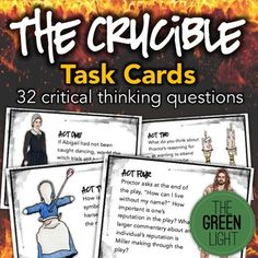 This free worksheet now has more clarity and depth and includes a the crucible task cards activities quizzes discussion questions fandeluxe Images