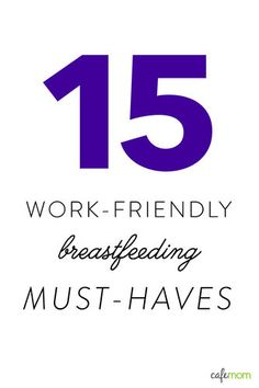 Working (& Breastfeeding) Moms, you don't want to be without these!