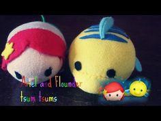 Disney Ariel & Flounder tsum tsum sock plushie tutorial