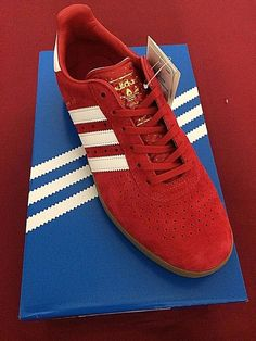 sports shoes 5c681 8f608 Scarlet Red Adidas Originals 350 Mens Sneaker Casual Shoes Trainers SIZE 8  UK adidas