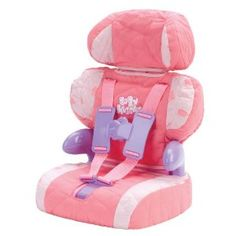 OMG! This is so freaking cute! Doll Car Seat and Booster with Seatbelt for Dolls and Stuffed Animals - Bring Your Favorite Friend for a Ride!