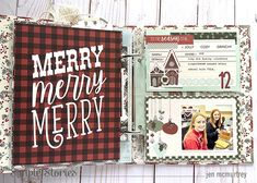 Celebrate the Season! by Jen McMurtrey – Simple Stories Christmas Scrapbook Layouts, Pocket Scrapbooking, Christmas Mini Albums, Christmas Minis, Flip Books, Jingle All The Way, Simple Stories, December Daily, Tis The Season