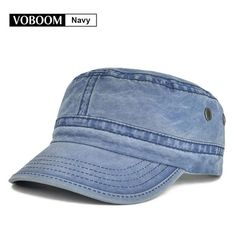 4a8079948a1 VOBOOM Summer Autumn Military Cap Men Women Washed Cotton Flat Top Army Hat  with Air Hole Adjustable 162