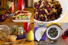 5 Make Ahead Vegan and Gluten Free Lunches + a trail mix - so making all these this week!
